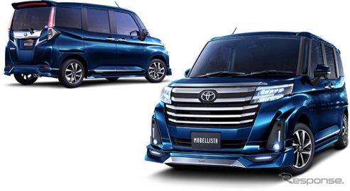 【トヨタ ルーミー 改良新型】モデリスタ、エアロパーツなどカスタマイズアイテム発売