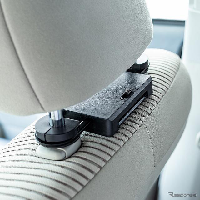 10.1型ヘッドレスト取り付け車載プレーヤー 200-CAR073《写真提供 サンワサプライ》