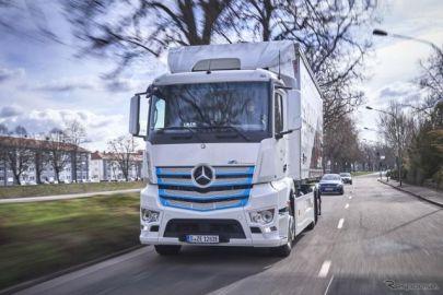 メルセデスベンツのデザイン哲学「官能的純粋」、商用車に拡大展開…新コンセプトトラックに