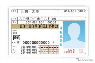 運転免許証の有効期間延長、対象者を拡大 警察庁