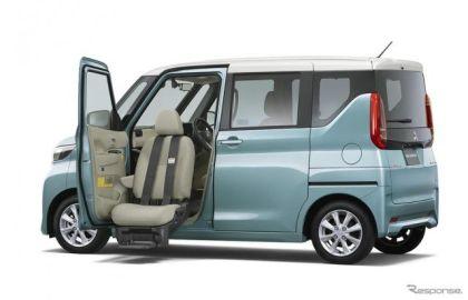 三菱 eKクロススペース/eKスぺース、福祉車「助手席ムービングシート仕様車」を設定