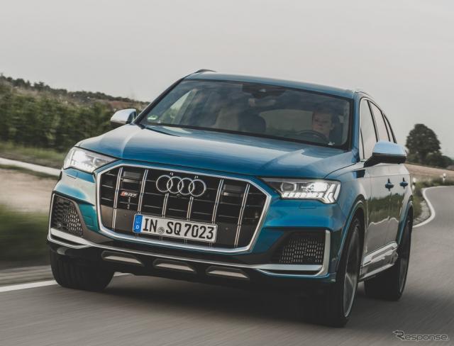 アウディ SQ7 改良新型の4.0TFSI《photo by Audi》