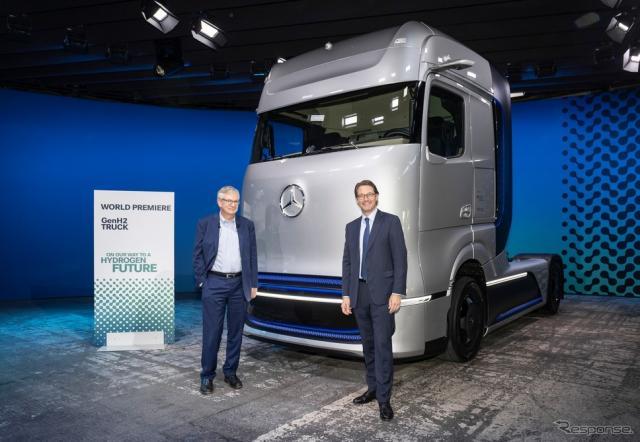 メルセデスベンツの次世代燃料電池トラックコンセプト、GenH2トラック《photo by Daimler Truck》