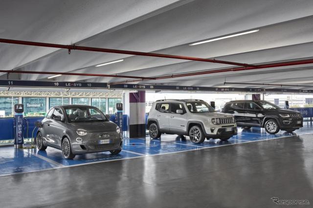 FCAがイタリア・ローマのレオナルド・ダ・ヴィンチ国際空港に開設した急速充電ステーション《photo by FCA》