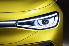 VWの新型EV、LEDヘッドライトが「まばたき」 まもなく『ID.4』発表予定