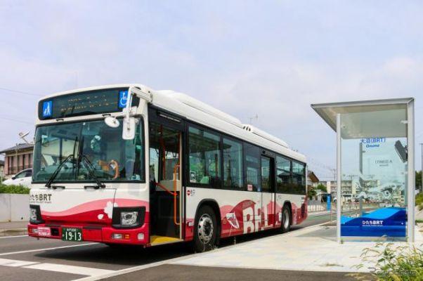 バスひたちBRT、自動運転バスの実証実験開始へ…路側センサーや遠隔監視装置を活用