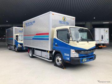 三菱ふそうの電気小型トラック『eキャンター』、関西へ初納車