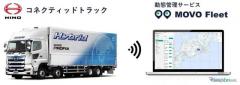日野のコネクティッドトラック、ハコブの動態管理サービスに対応