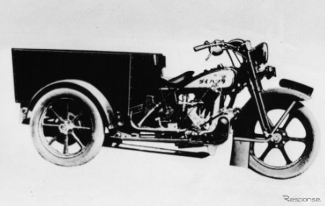初の三輪自動車「ダイハツ号」(HA型)《写真提供 ダイハツ工業》