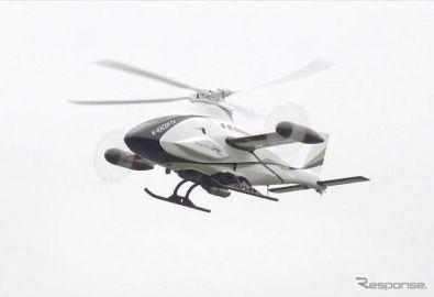 Ninja H2Rのエンジンを搭載したヘリ、飛行試験が成功