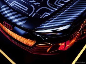 アウディの新型EVスポーツカー、『e-tron GT』…プロトタイプの写真