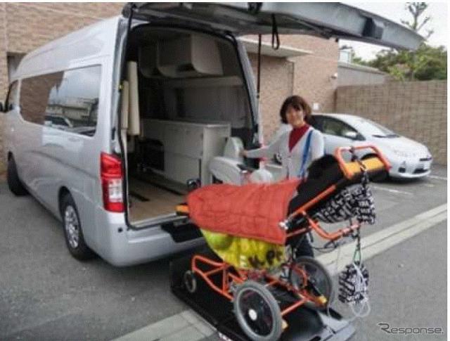 ユニバーサルデザインレンタルキャンピングカー(参考画像)《写真提供 NEXCO中日本》