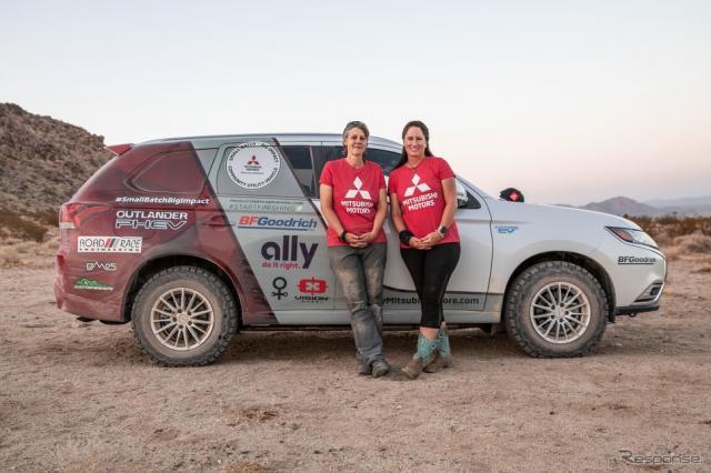 三菱 アウトランダー PHEV のRebelle Rally参戦車両《photo by Mitsubishi Motors》