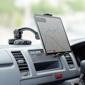 吸盤取付のタブレットホルダー発売、車載やWEB会議に活用…サンワサプライ