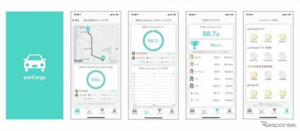 デンソー、スマホで運転をスコアリングするアプリ「yuriCargo」を開発