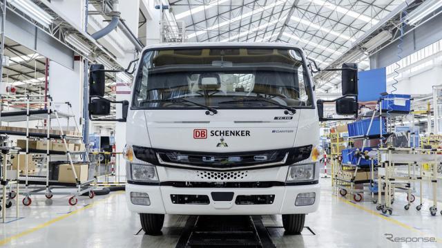 DBシェンカーに納車した小型電気トラック「eキャンター」《写真提供 三菱ふそうトラック・バス》