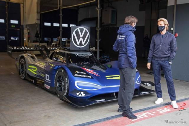 フォルクスワーゲン ID. R をテストしたニコ・ロズベルグ氏《photo by VW》