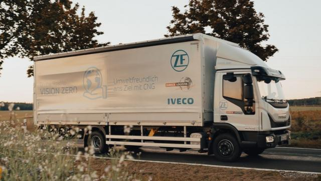 ZFとイヴェコの天然ガストラック《photo by ZF》