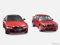 BMW、初代 M3 と新型 M4 クーペのワンオフ発表…ファッションブランド「KITH」と協力