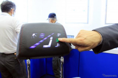 座席ヘッドレストに光る操作パネル、積水ポリマテックの3Dタッチセンサー技術…名古屋オートモーティブワールド2020