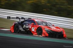 【SUPER GT 第6戦】ARTA NSX-GTが今季3度目のポールポジション…GT300はK-tunes RC F GT3がポールポジション