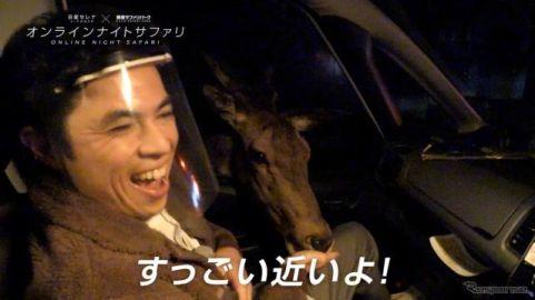 小島よしお、セレナe-POWERからキリンや象に餌やり…ナイトサファリ