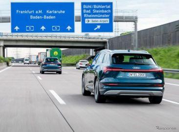 アウディ『e-tron』、EVの走行を支援する「ルートプランナー」搭載…欧州仕様