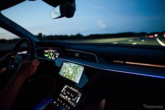 アウディ e-tron シリーズの「ルートプランナー」のイメージ《photo by Audi》