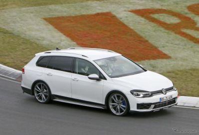 VW ゴルフR ヴァリアント 新型、プロトタイプがニュル降臨!333馬力の高性能ワゴン