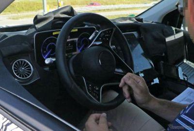 メルセデスベンツ Sクラス の電動SUV「EQS SUV」コックピットを初激写