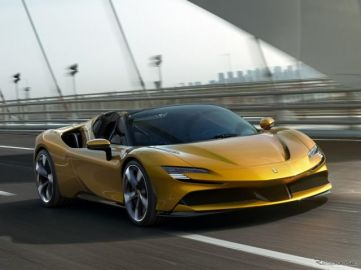 フェラーリ初のPHV、『SF90』にスパイダー発表…1000馬力のオープンカー