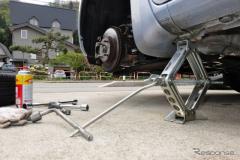 DIYタイヤ交換、ジャッキ倒れに要注意…スタッドレスのシーズン