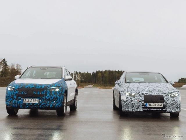 メルセデスベンツ EQA と EQS のプロトタイプ《photo by Mercedes-Benz》