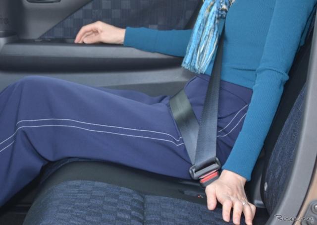着座姿勢や装着方法によってはシートベルトが凶器となる可能性もある。(写真はイメージ)
