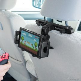 Nintendo Switchを設置できるヘッドレストホルダー サンワが発売