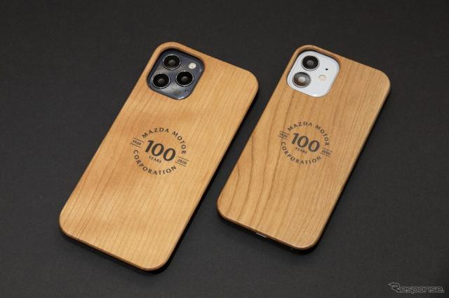マツダ100th Anniv. Wood iPhoneケース iPhone12用《写真提供 MZRacing》