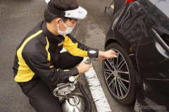 4台に1台がタイヤ整備不良、ダンロップが全国で2137台を安全点検