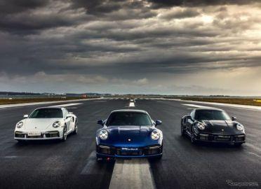 ポルシェ 911ターボS、空港滑走路で試乗会…650馬力を解き放て