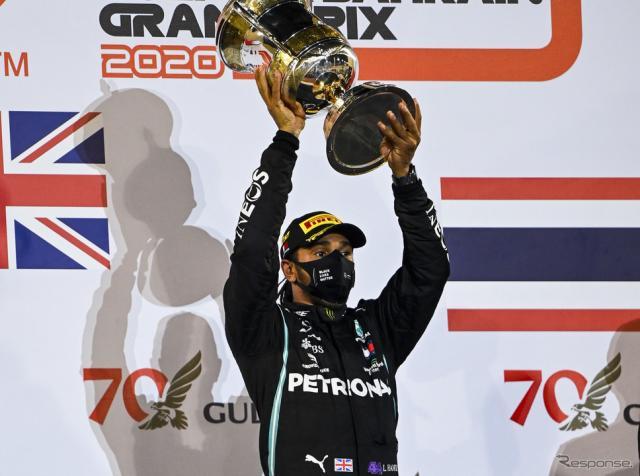 2020年F1王者ルイス・ハミルトン(第15戦バーレーンGP決勝)《写真提供 Pirelli》