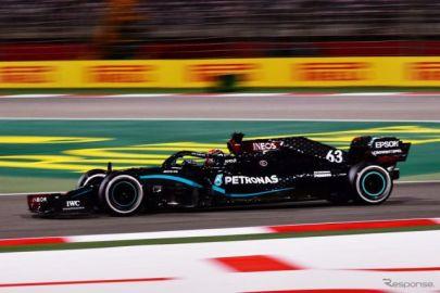 【F1 サクヒールGP】ルイス・ハミルトンの代役ジョージ・ラッセルが初日トップ…ホンダ勢は4台すべてがトップ10