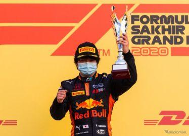 来季F1昇格が期待される角田裕毅、今季F2をシリーズ3位で終了