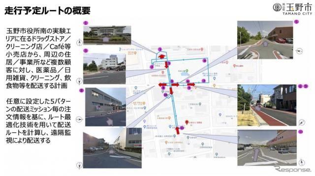 公道でラストワンマイル自動配送の実証実験 オプティマインドなど参画