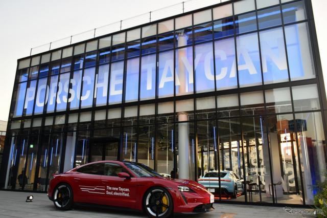 ポルシェジャパンのポップアップストア「Porsche Taycan Popup Harajuku」《写真撮影 釜田康佑》