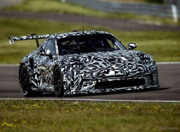 ポルシェ 911 新型に初のレーサー、プロトタイプの写真 12月12日正式発表