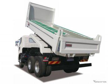 極東開発、10トン軽量ホイストリヤダンプトラックを改良…耐摩耗鋼板仕様を追加