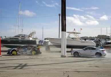 862馬力のスバル WRX STI、新型 BRZ とドーナツターンで競演…『ジムカーナ2020』