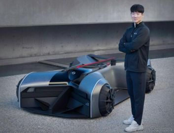 2050年の日産 GT-R、学生の卒業制作がフルサイズに…単なる自動運転EVではない