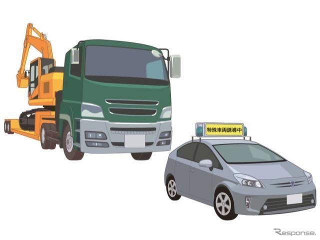 特殊車両の誘導《画像提供 国土交通省》