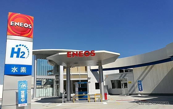 セルフで水素を充填できるENEOS横浜綱島水素ステーション(参考画像)《写真提供 ENEOS》