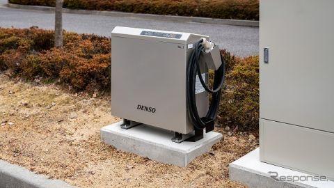 デンソー、V2H-充放電器を本社に設置…EVやPHVに貯めた電気を災害時に活用